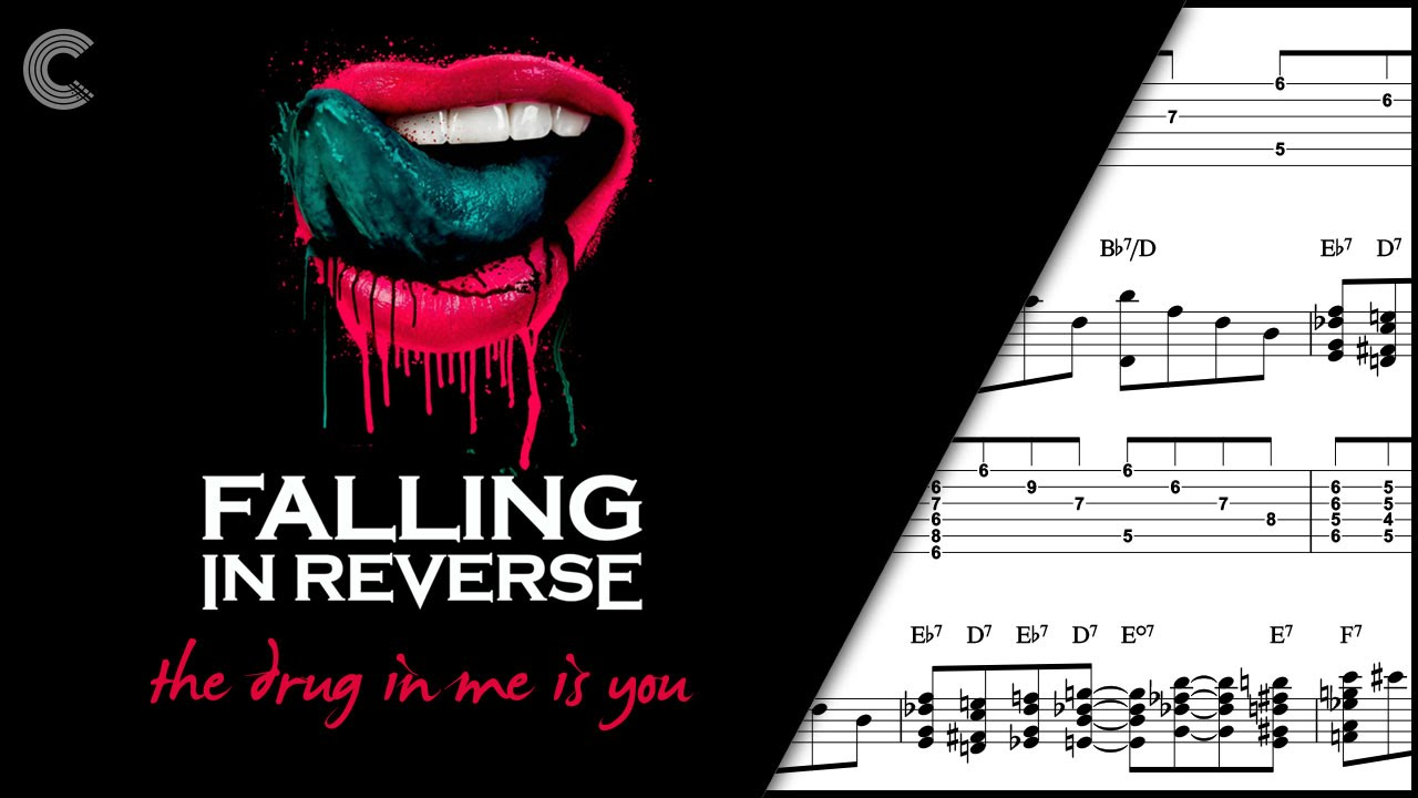 Guitar The Drug In Me Is You Falling In Reverse Sheet Music