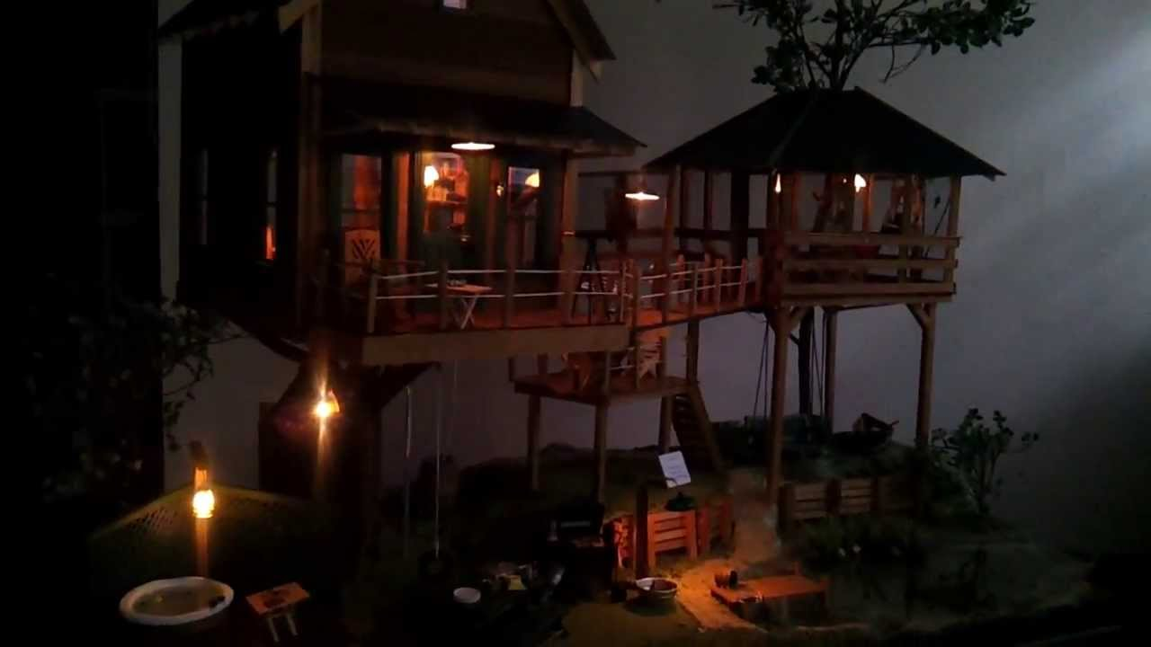 Miniature Tree House tate's miniature tree house in the forest at dawn - youtube