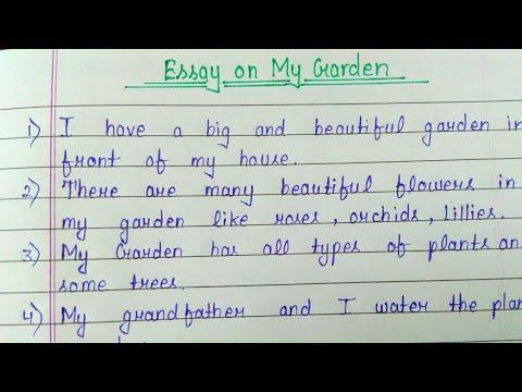 Essay On My Garden For Grade 1