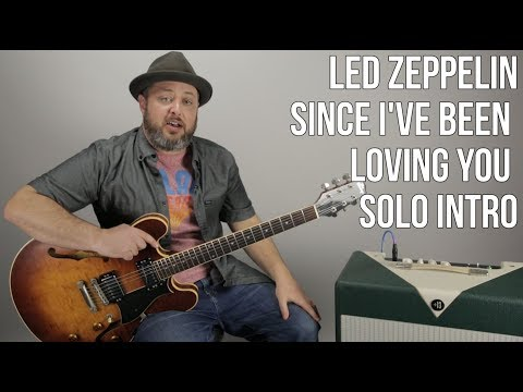 Led Zeppelin - Since I've Been Loving You - Intro Solo Guitar Lesson