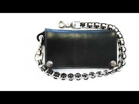 American Made Leather Biker Chain Wallets From Anvil Customs