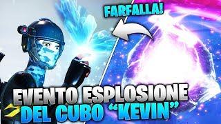 """REAZIONE ALL'ESPLOSIONE DEL CUBO """"KEVIN"""" DURANTE L'EVENTO - FORTNITE EVENTO FINALE DEL CUBO!"""