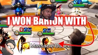 BARION vs WIND Chakram & Boomerang Warrior in Summoners War - Summoners Live