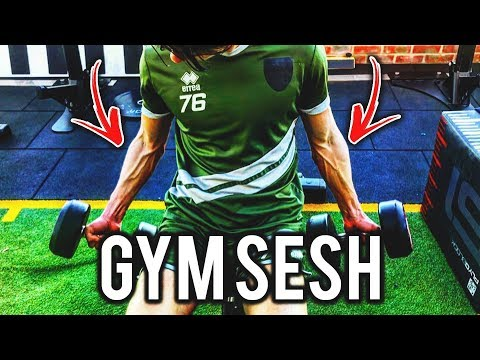 Footballer GYM Session! - Day In The Life Of A Academy Footballer