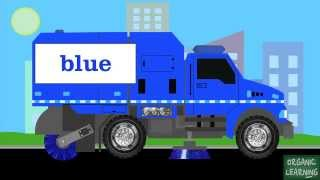 Street Sweepers Teaching Colors - Learning Basic Colors Video for Kids