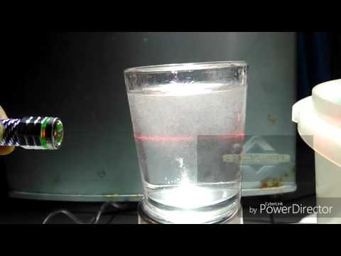 TEST NANO MICRO BUBBLE WATER WITH LASER POINT
