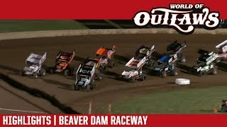 World of Outlaws Craftsman Sprint Cars Beaver Dam Raceway June 23, 2018   HIGHLIGHTS