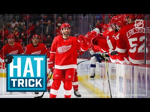Frans Nielsen nets hat trick for Red Wings