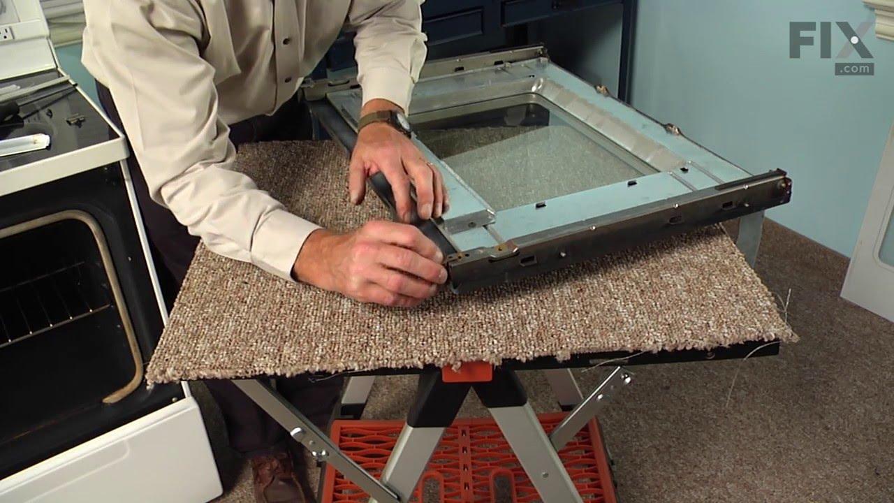 KitchenAid Range Repair U2013 How To Replace The Inner Door Glass