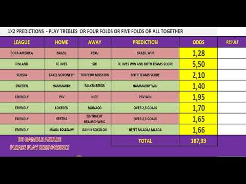 Fixed odds betting football free nfl betting sheets