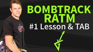 Guitar Lesson: Bombtrack 1/4 - Rage Against The Machine - How to play / tutorial
