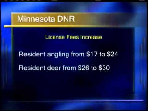 11021605Minnesota DNR Raising License Fees