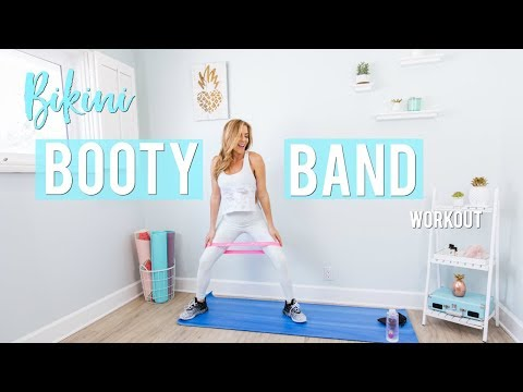 image about Printable Resistance Bands Exercises referred to as Booty Band Training Resistance Bands Work out - YouTube