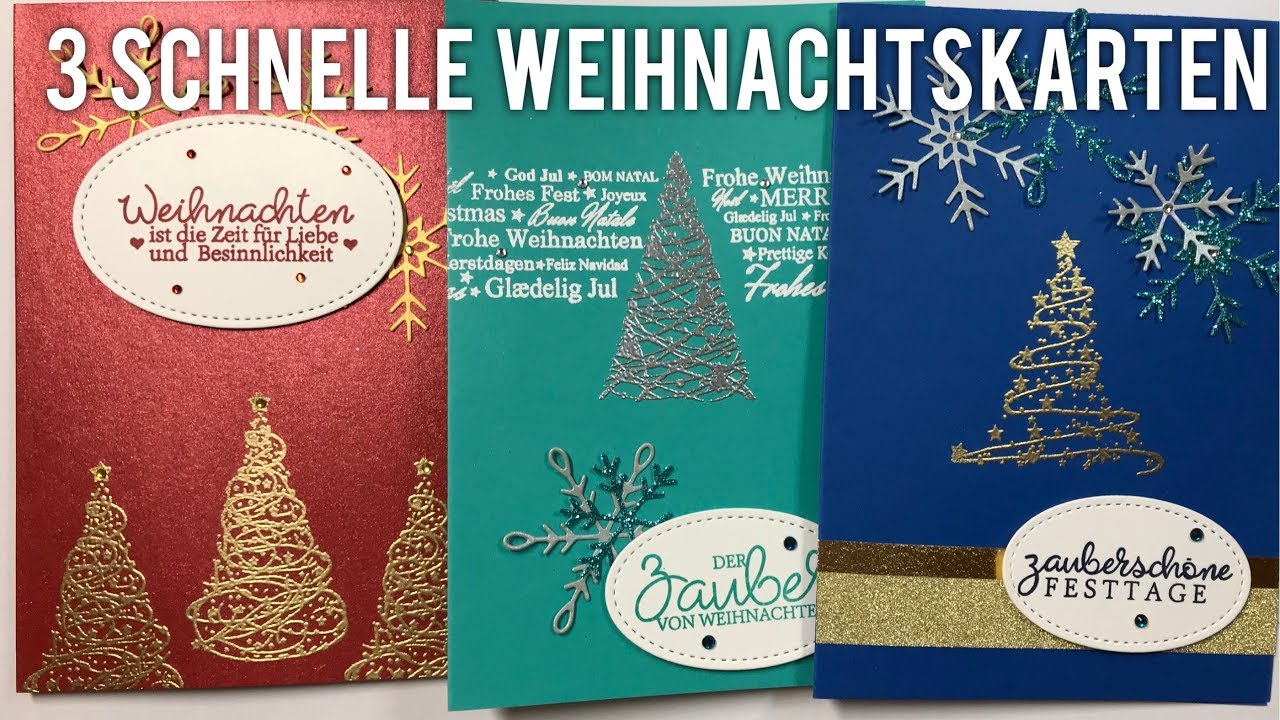 Malerisch Edle Weihnachtskarten Basteln Referenz Von 3 Schnelle [tutorial | Deutsch]