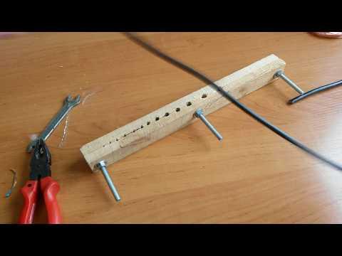 Изготовление станка для зачистки кабеля за пять минут.
