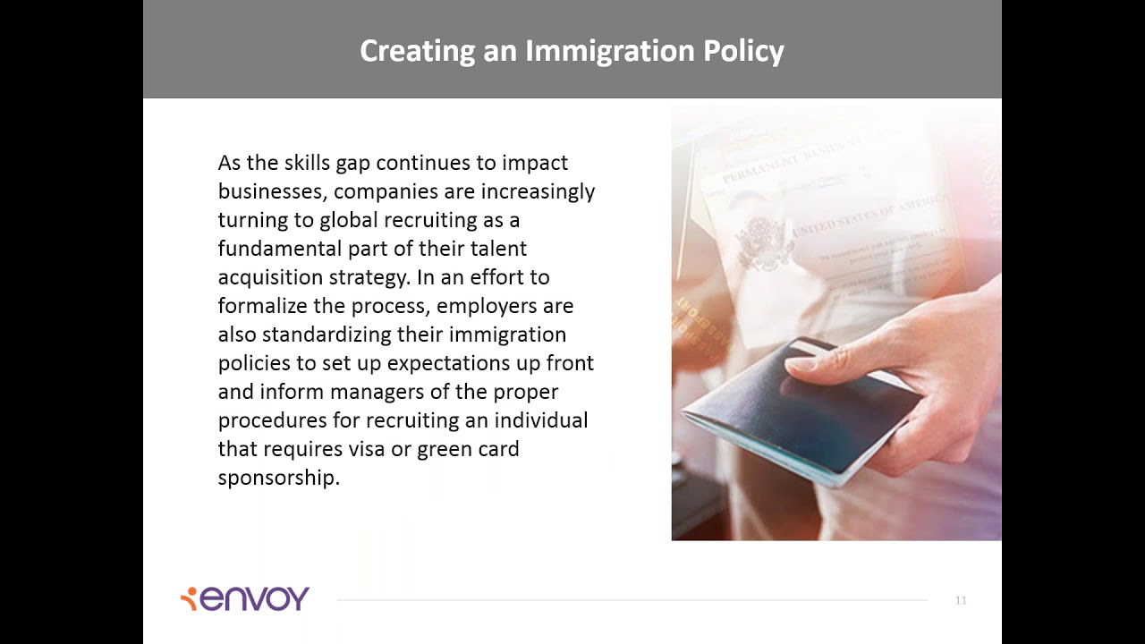 Creating an Immigration Policy for Your Organization Webinar