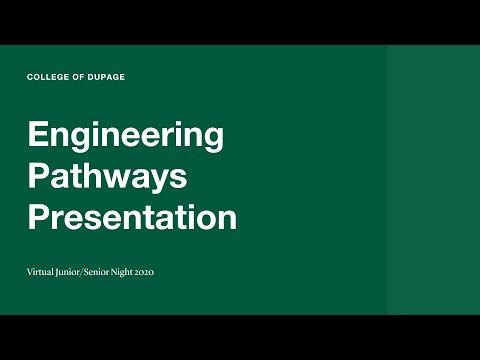 Junior Senior Night 2020 - Engineering Pathways Presentation