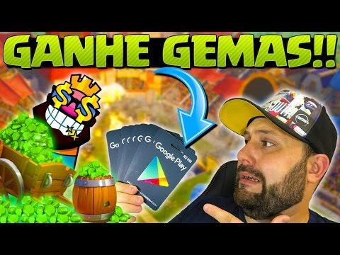 GIFT CARDS GRÁTIS PARA COMPRAR GEMAS NO CLASH ROYALE - BRUNO CLASH