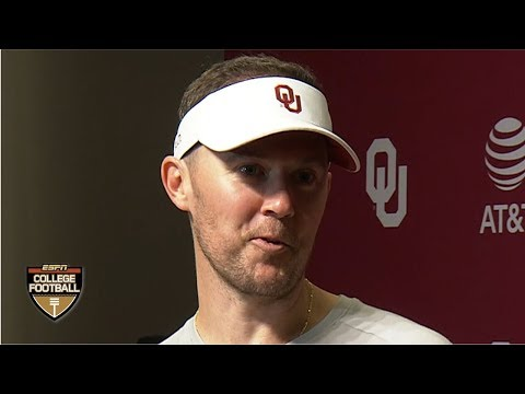 Lincoln Riley reviews Jalen Hurts' game after Oklahoma's win vs Houston | College Football on ESPN
