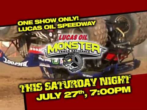 Don't Miss The Monster Truck Nationals this Saturday night at Lucas Oil Speedway!