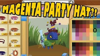 A GLITCHED MAGENTA PARTY HAT! - ANIMAL JAM