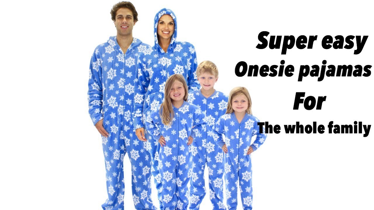 diy super easy onesie for the whole family unisex onesie pajamas diy