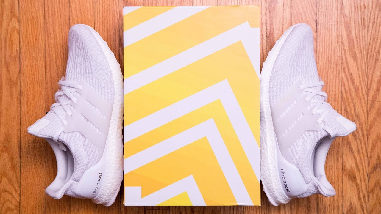 6aa806e22d4dd Adidas Ultra Boost 3.0 Triple White Review and On Feet - YouTube