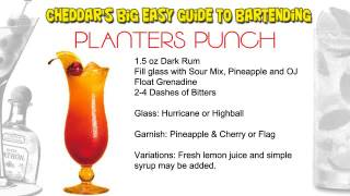Cheddars Cocktail Recipes: Planters Punch aka Rum Punch
