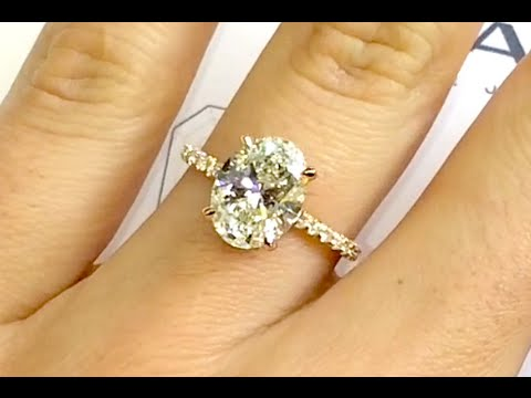 3 ct Oval Diamond Engagement Ring in Rose Gold - YouTube 1ea6a1755