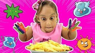 Maria Clara não quer lavar as mãos (Johny Johny Yes Papa song | wash your hands) - MC Divertida