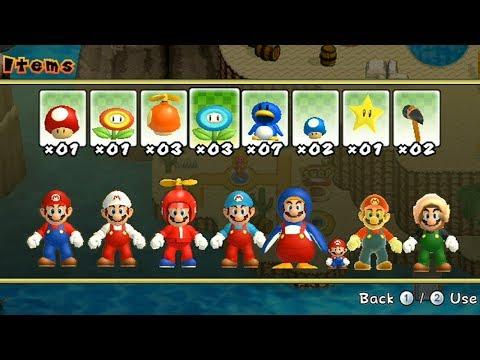 Newer Super Mario Bros Wii - All Power-Ups