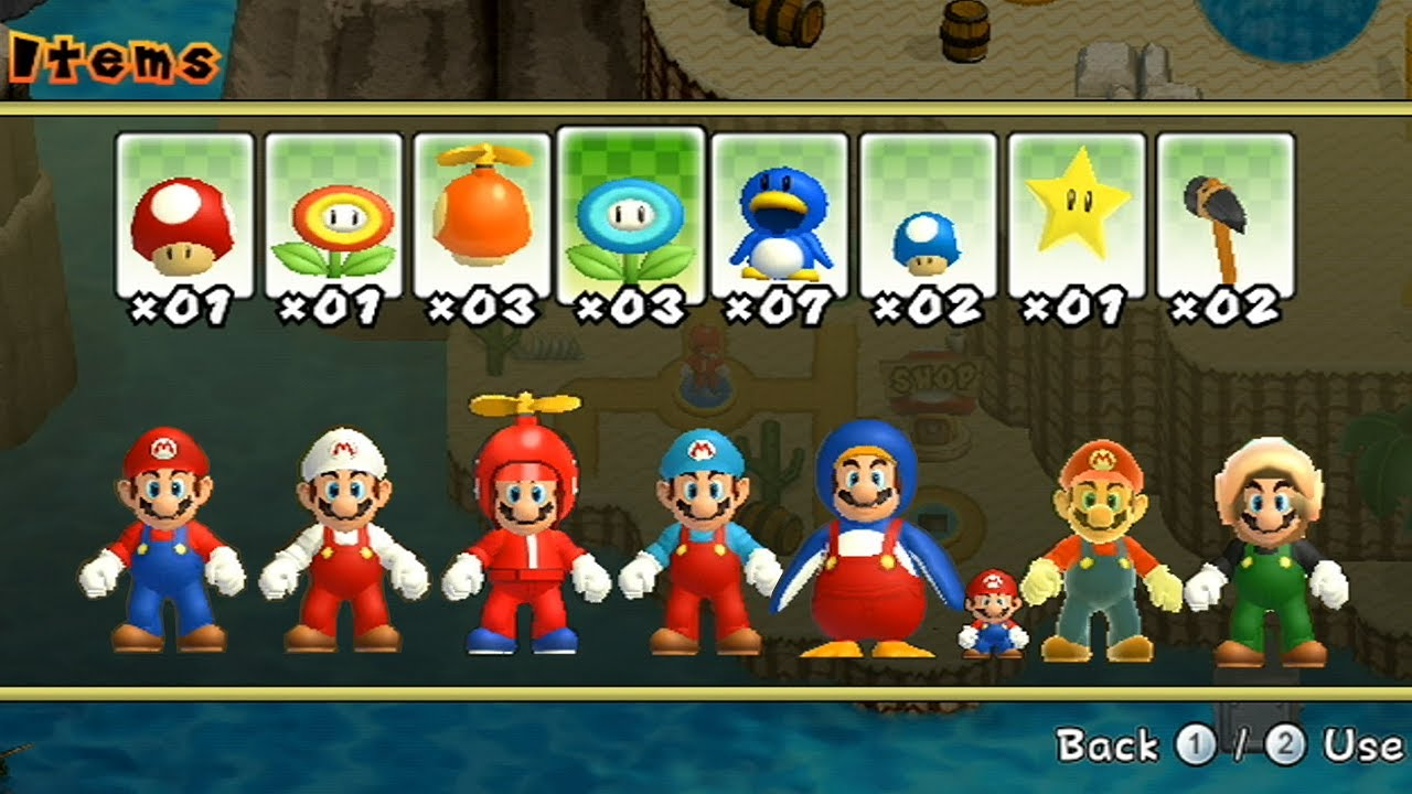 Newer Super Mario Bros Wii - All Power-Ups