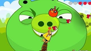 Angry Birds Cannon Hacked 2 - BLAST THE GIANT BOSSES WITH 3 DIFFERENT BIRDS COLLECTION!