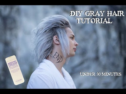 DIY GRAY/SILVER HAIR TUTORIAL | Only two steps required