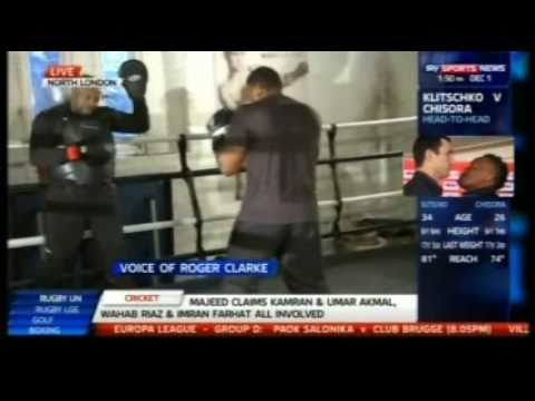 Derek Chisora Media Workout In London For Klitschko
