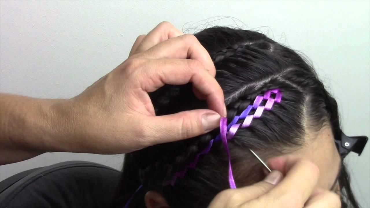 Peinado facil con cinta para ni a youtube - Peinados bonitos para ninas ...