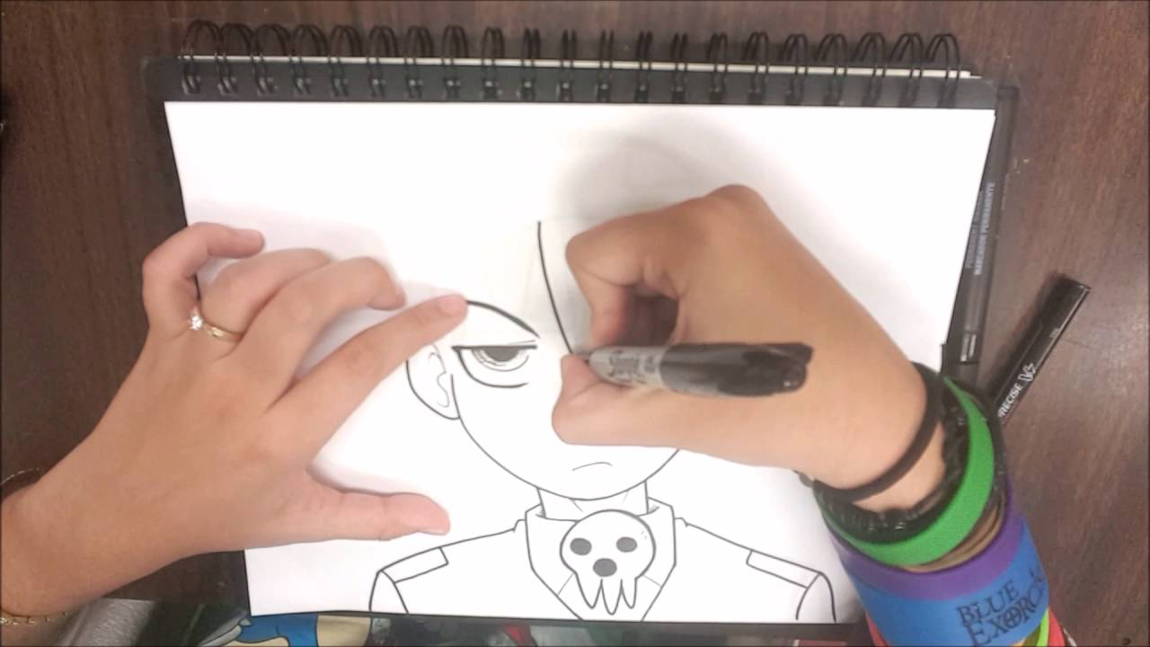 How To Draw Death The Kid Youtube