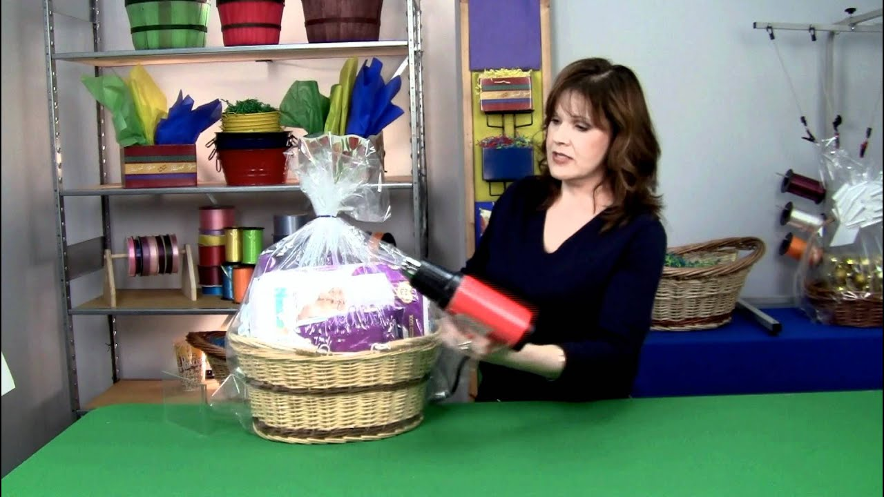 where can i buy shrink wrap for gift baskets