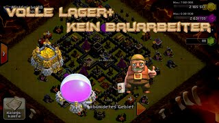 """Lets Play Clash of Clans #47 """"Volle Lager+Kein Bauarbeiter """" [HD] GER/DEUTSCH"""