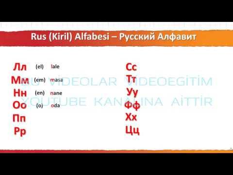 001 Rusça Alfabesi
