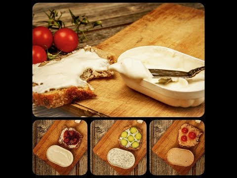 Cream cheese - 3 flavors- fast, easy homemade recipes with no added bad fats