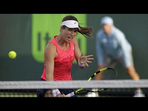 Johanna Konta beats Aliaksandra Sasnovich at Miami Open