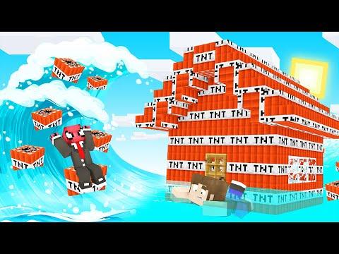 TNT TSUNAMİ VS EV! 🧨 - Minecraft
