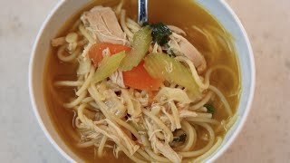 Best 15 Minute Chicken Noodle Soup recipe by SAM THE COOKING GUY