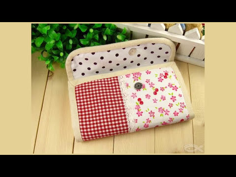Shine Sewing Tutorial Fabric Accordion Wallet - YouTube