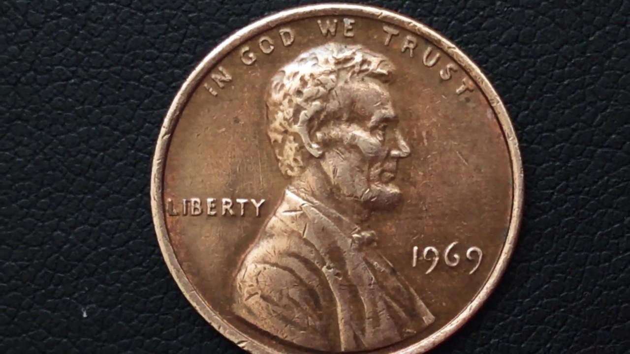 1969 Usa Coins Lincoln Penny One Cent Coins Qepik Монеты США 1 Цент 1969 Цена стоимость Монеты