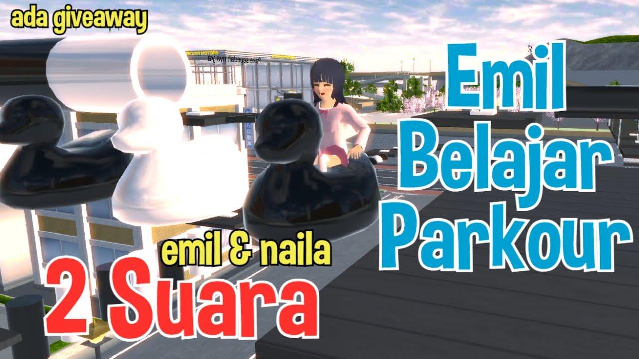 Pakai 2 Suara, Emil Belajar Parkour 320 Guys | Sakura School Simulator Indonesia | Obby Sakura Pt 29