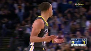 Stephen Curry Goes Unconscious, Hits  7 Threes in a Quarter vs. Pelicans