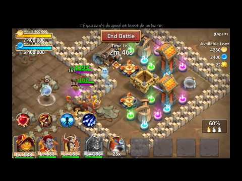 Castle Clash Divine Templar Tanking For Ghoulem.