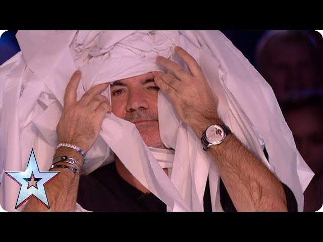Marty Putz Covers Simon Cowell In Toilet Roll Auditions Week 1 Britain S Got Talent 2018
